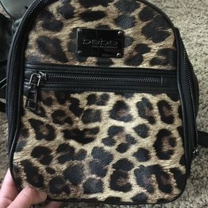 Bebe leopard print backpack